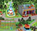 illustration plan du parc Magic park Land