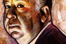 portrait d'Alfred Hitchcock