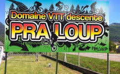 panneau grand format VTT descente Praloup