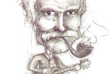 caricature de Georges Brassens