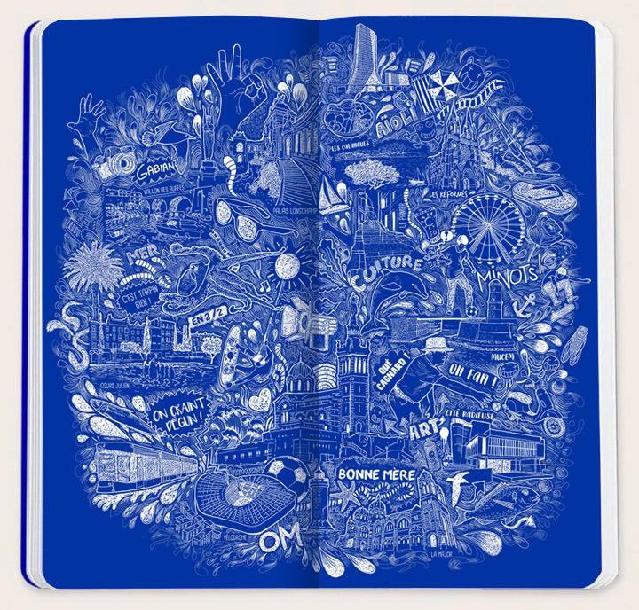 illustration carnet flying blue air france KLM
