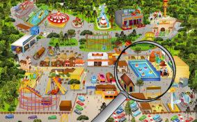 illustration plan du parc Magic park Land