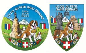 Autocollant et écusson Le col du petit saint Bernard