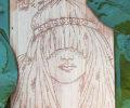 cartes postales sur bois