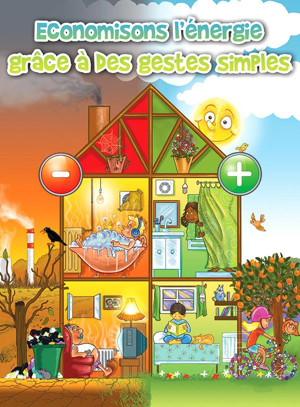 affiche économie énergie illustration