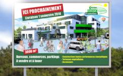 PanneauGreen concept promotion immobilier