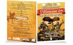 dépliant fête médiévale de Villeneuve 2018