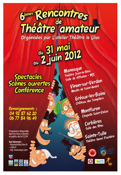 Affiche rencontres de théâtre amateur