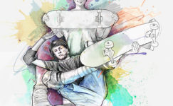 illustration skateboard